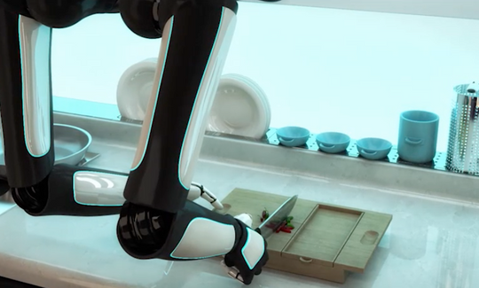 The robot chef can produce meals from around the world or cook your own recipes