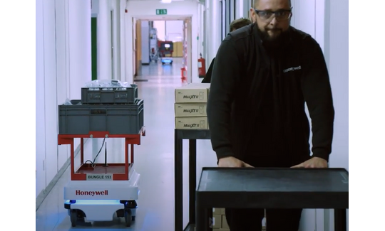 Honeywell were looking to automate trolley pushing to free up staff